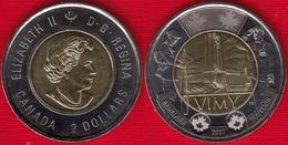 "Canada 2 Dollars 2017 ""Battle Of Vimy Ridge"" BiMetallic UNC - Canada"