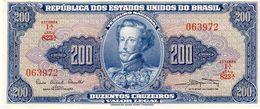 Brazil P.171a 200 Cruzeiros  1961 Au - Brasil