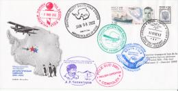 South Pole Station Russia Première Liaison Aérienne Patriot Hills-Pôle Sud Antonov 3 - 2002 - Terres Australes Et Antarctiques Françaises (TAAF)