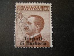 TRIPOLI DI BARBERIA - 1909, Sass. N.7, 40 C. Bruno, Usato. TB, Occasione - 11. Foreign Offices