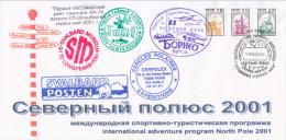 International Adventure Program North Pole 2001 - Cerpolex - Svalbard Posten Museum - Terres Australes Et Antarctiques Françaises (TAAF)