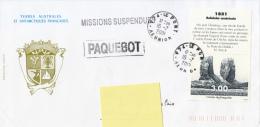 Missions Suspendues - Paquebot 2001 Baleinier Américain - Terres Australes Et Antarctiques Françaises (TAAF)