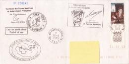 Courrier Posté à Bord, Posted At Sea Joseph Fournier Médecin CMA Ships Helilagon  2009 - Terres Australes Et Antarctiques Françaises (TAAF)