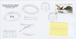 TAAF Enveloppe Port Aux Français Croix Du Sud Posté à Bord 2009 (Petrel De Wilson) - Autres