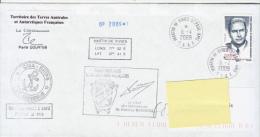 TAAF Enveloppe Martin De Vivies - Marion Dufresne 2009 - Terres Australes Et Antarctiques Françaises (TAAF)