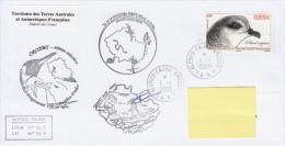 TAAF Enveloppe Alfred Faure - Crozet Ile De La Possession 2009 (Petrel Soyeux) - Terres Australes Et Antarctiques Françaises (TAAF)