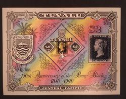 Tuvalu 1990 150th Anniv. Of The Penny Black S/S - Tuvalu