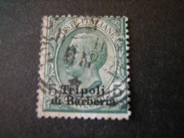 TRIPOLI DI BARBERIA - 1909, Sass. N. 3,  5 C. Verde, Usato. TB Occasione - Buitenlandse Kantoren