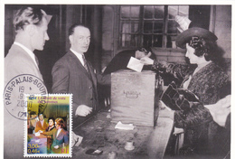 Carte-Maximum FRANCE N° Yvert 3353 (1er VOTE DES FEMMES) Obl Sp Palais-Bourbon (Ed Castelet) - Cartes-Maximum