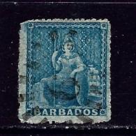 Barbados 29 Used 1871 Issue Few Short Perfs - Barbades (...-1966)
