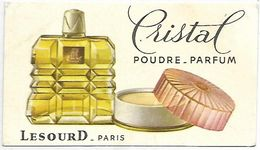 PUBLICITE - CRISTAL Poudre-Parfum - LESOURD Paris - Werbepostkarten