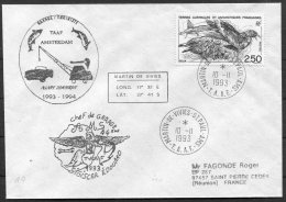 1993 T.A.A.F. French Antarctic Antarctica Polar, Martin De Vivies, St Paul AMS Cover. - French Southern And Antarctic Territories (TAAF)