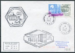 1995 T.A.A.F. French Antarctic Antarctica Polar, Martin De Vivies, St Paul AMS Cover. - French Southern And Antarctic Territories (TAAF)