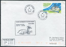 1996 T.A.A.F. French Antarctic Antarctica Polar, Martin De Vivies, St Paul AMS Cover. Penguin - French Southern And Antarctic Territories (TAAF)