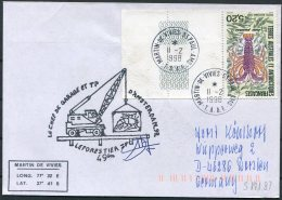 1998 T.A.A.F. French Antarctic Antarctica Polar, Martin De Vivies, St Paul AMS Cover. - French Southern And Antarctic Territories (TAAF)