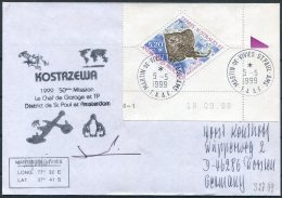 1999 T.A.A.F. French Antarctic Antarctica Polar, Martin De Vivies, St Paul AMS Cover. Penguin Kostrazewa - French Southern And Antarctic Territories (TAAF)