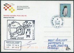 2006 T.A.A.F. French Antarctic Antarctica Polar, Martin De Vivies, St Paul AMS Postcard Penguin - French Southern And Antarctic Territories (TAAF)
