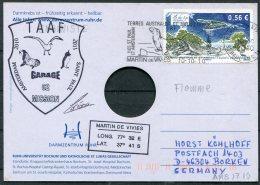 2010/11 T.A.A.F. French Antarctic Antarctica Polar, Martin De Vivies, St Paul AMS Postcard Seals SIGNED - Covers & Documents