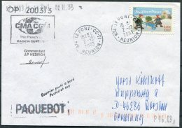 2003 T.A.A.F. French Antarctic Polar Le Port, Reunion, Marion Dufresne Paquebot Cover - French Southern And Antarctic Territories (TAAF)