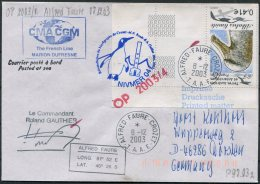 2003 T.A.A.F. French Antarctic Polar, Alfred Faure Crozet Cover. Penguin Helicopter - French Southern And Antarctic Territories (TAAF)