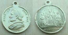 NM-387Médaille En Laiton Pius IX.Anno XXIV - Religion & Esotericism
