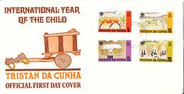 Tristan Da Cunha FDC 26-11-1979 Complete Set Of 4 International Year Of The Child With Nice Cachet - Tristan Da Cunha