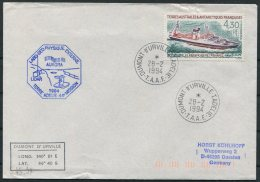 1994 T.A.A.F. French Antarctic Polar Dumont D'Urville Terre Adelie Cover. Penguin Ship Aurora - French Southern And Antarctic Territories (TAAF)