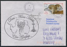 2002 T.A.A.F. French Antarctic Polar Dumont D'Urville Terre Adelie Cover. Expedition SIGNED - French Southern And Antarctic Territories (TAAF)