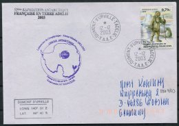 2003 T.A.A.F. French Antarctic Polar Dumont D'Urville Terre Adelie Cover. Expedition - French Southern And Antarctic Territories (TAAF)