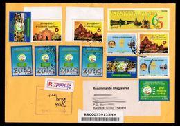 Myanmar C2015 Registered Cover To Bangkok / 2014 Population Census - Myanmar (Burma 1948-...)