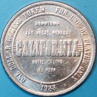 $1 Casino Token. California, Las Vegas, NV. 1988. J51. - Casino