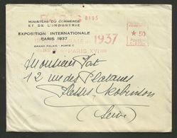 """EMA """" Exposition Internationale PARIS 1937 """" / LAC - Marcophilie (Lettres)"""