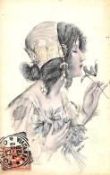[DC11545] CPA - DONNA CON FIORI - Viaggiata 1902 - Old Postcard - Illustratori & Fotografie