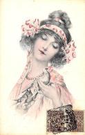 [DC11547] CPA - DONNA CON UCCELLO - PERFETTA - Viaggiata 1902 - Old Postcard - Illustratori & Fotografie