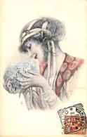 [DC11548] CPA - DONNA CON FIORI - PERFETTA - Viaggiata 1902 - Old Postcard - Illustratori & Fotografie