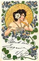 [DC11552] CPA - ART NOUVEAU - SERIE ARIADNE - Viaggiata 1903 - Old Postcard - Illustratori & Fotografie