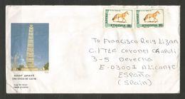 ETIOPIA - Fauna - Old Cover Sent To SPAIN - D 192 - Äthiopien