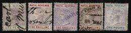 NATAL, Revenues, Used, F/VF - Natal (1857-1909)