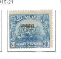 Nicaragua 1919/21 Nat.Palace E Leon Cath.surch.Scott.390 Nuovi/Usati See Scans - Nicaragua