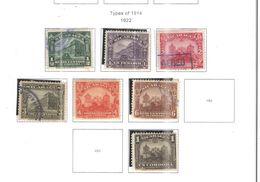 Nicaragua 1922 Tipi 1914 Scott.408/412+415 Nuovi/Usati See Scans - Nicaragua
