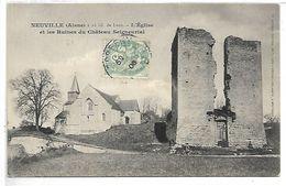 NEUVILLE - L'Eglise Et Les Ruines Du Château Seigneurial - France