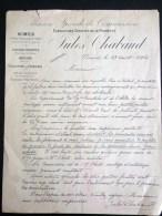 NIMES JULES CHABAUD 1896 ROQUEFORT-DES-CORBIERES VITICULTURE AGRICULTURE VENDANGE VIGNERON ALCOOL VIN OENOLOGIE - Nîmes