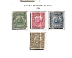 Nicaragua 1924 Franisco De Cordoba Scott.422/425 Nuovi/Usati See Scans - Nicaragua