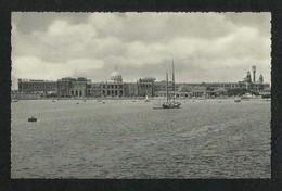 Egypt Old Black & White Picture Postcard Alexandria Ras Ei Tin Palace View Card - Alexandria