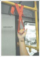 Health - Postcard - Against AIDS - Anna Theresa Sandler,Faculty Of Communication Design,Berlin,Germany.Bus - Santé