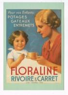 20049  CPM Série J N° 150 , FLORALINE ,PUBLICITES ,  RIVOIRE ET CARRET 1951  , Collec Thura Philippe , Editions NUGERON - Pubblicitari