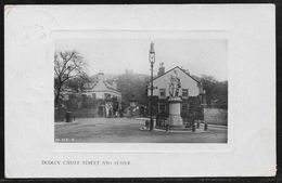 Great Britain - Dudley Castle Street And Statue - Real Photo Posted 1909 - Worcestershire