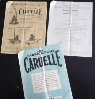 LOT PUBLICITE CARUELLE POMPES ARROSAGE SAINT-DENIS-DE-L'HOTEL DEMIGNY ARROSAGE VITICULTURE AGRICULTURE VIN OENOLOGIE - Agriculture