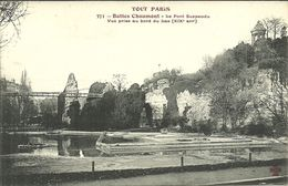 PARIS 20  -- TOUT PARIS - Buttes Chaumont, Le Pont Suspendu, Vue Prie                                   -- Fleury 371 - Arrondissement: 20