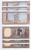 1980 Lebanon 1 Livre Lot 3 PCS Serial Numbers UNC    (Shipping Is $ 6.66) - Lebanon